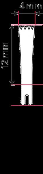 Osseoskalpell-Sägeblatt 10 x 4 x 0.4 mm
