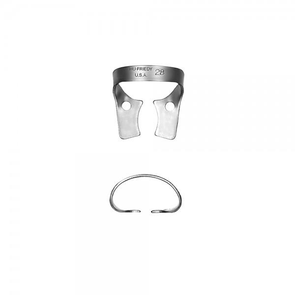 Kofferdam-Klammer #28 UK, Molar, ohne Flügel