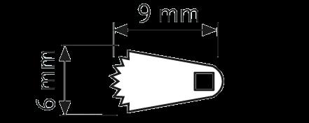 Sägeblatt, langer Schaft 16,0/ 5,3/ 0,4 mm