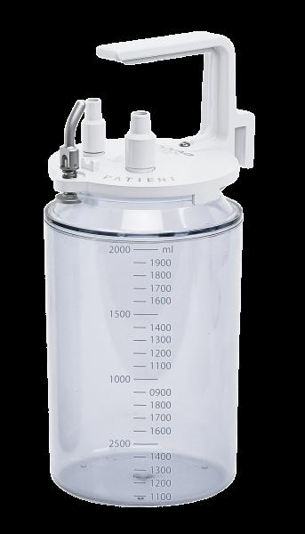 Sekretflasche 2 Liter, skaliert