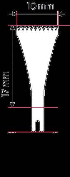 Osseoskalpell-Sägeblatt 17 x 10 x 0.4 mm