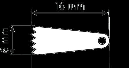 Sägeblatt, langer Schaft 16,0/ 5,8/ 0,4 mm