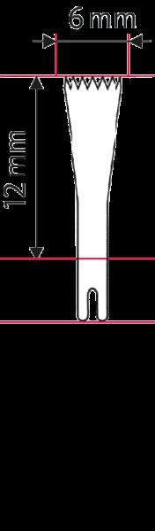 Osseoskalpell-Sägeblatt 12 x 6 x 0.4 mm