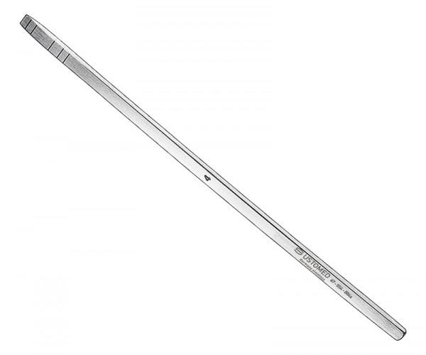 MINI-LAMBOTTE, Osteotom, 13 cm, 4 mm, ger. jedoch mit Skalierung