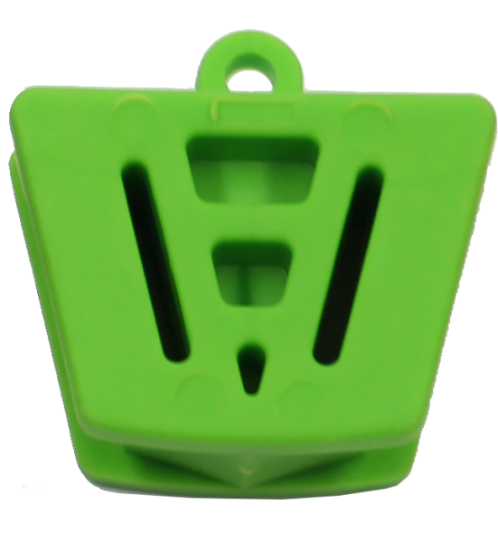 Mundkeil, Kunststoff, grün, klein