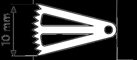 Sägeblatt, langer Schaft 16,0/ 10,0/ 0,4 mm