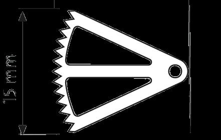Sägeblatt, kurzer Schaft 16,0/ 14,5/ 0,4 mm