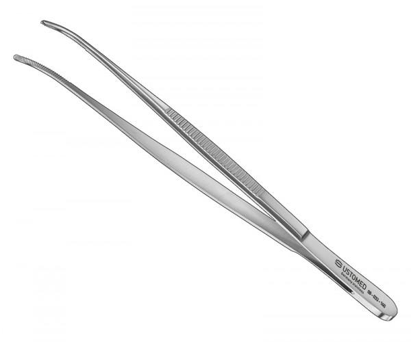 Anat. Pinzette, 16 cm, gebogen, fein
