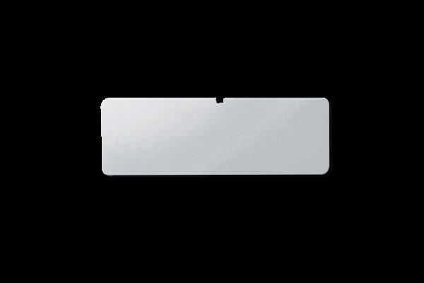 Schild beschriftet, silber, 16 Stellen