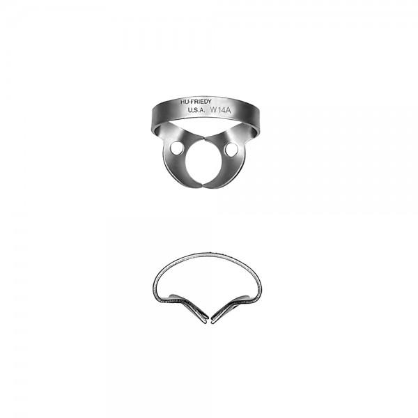 Kofferdam-Klammer #W14A Molar ohne Flügel